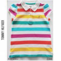 Camisa polo feminina, infantil Tommy Hilfiger - 4 anos - Tommy Hilfiger