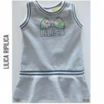 Vestido em moletom cinza Lilica Ripilica - 12 a 18 meses - Lilica Ripilica