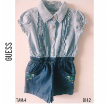Macaquinho curto jeans Guess - 4 anos - Guess