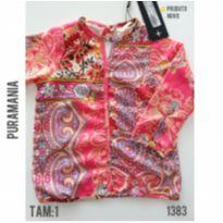 Camisa florida Puramania, NOVA - 1 ano - Puramania