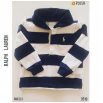 Blusa em plush Ralph Lauren - 6 meses - Ralph Lauren