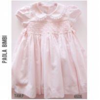 Vestido de festa Paola Bimbi - 3 a 6 meses - Paola Da Vinci e Paola BimBi