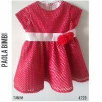 Vestido de festa Paola Bimbi - 6 a 9 meses - Paola Da Vinci e Paola BimBi