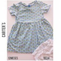 Vestido Carters - 12 a 18 meses - Carter`s e carter`s, baby gap, zara