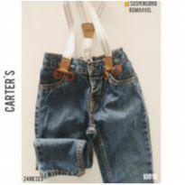 Calça jeans com suspensório Carter`s - 2 anos - Carter`s e carter`s, baby gap, zara