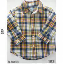 Camisa casual GAP - 12 a 18 meses - Baby Gap e GAP