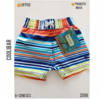 Bermuda de banho com proteção UV, NOVA com etiqueta - 9 a 12 meses - Coolibar