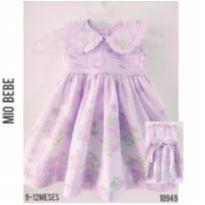 Vestido de festa Mio Bebê - 9 a 12 meses - Mio Bebê