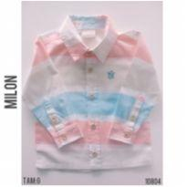 Camisa casual Milon - 9 a 12 meses - Milon e Marisol e Milon