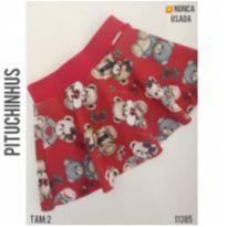 Shorts saia Pituchinhus - 2 anos - Pituchinhus