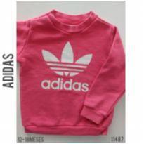 Blusa em moletom Adidas - 12 a 18 meses - Adidas e Adidas e Nike