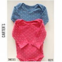 Dois bodies Carters - 3 meses - Carter`s e carter`s, baby gap, zara