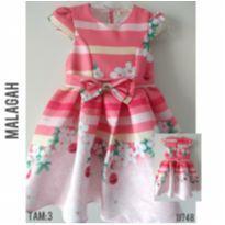 Vestido de festa luxo Malagah - 3 anos - Malagah