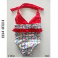 Maiô Lilica Ripilica - 3 a 6 meses - Lilica Ripilica e Lilica Ripilica Baby