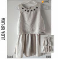 Vestido em linho cru Lilica Ripilica - 3 anos - Lilica Ripilica e Lilica Ripilica Baby