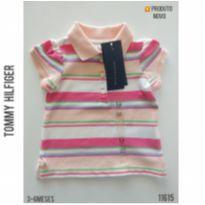 Camisa polo Tommy Hilfiger, NOVA - 3 a 6 meses - Tommy Hilfiger