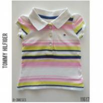 Camisa polo Tommy Hilfiger - 0 a 3 meses - Tommy Hilfiger
