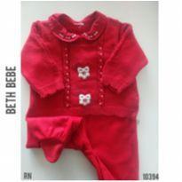 Macacão vermelho Beth Bebe - Recém Nascido - Beth Bebê