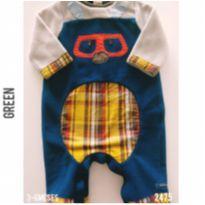 Macacão Green - 3 a 6 meses - Green e Gap Kids