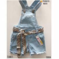 Jardineira jeans NOVA - 1 ano - LOLLIPOP