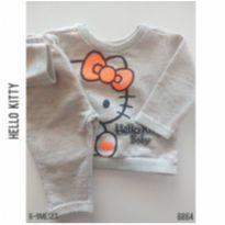 Conjunto em moletom Hello Kitty - 6 a 9 meses - Hello  Kitty