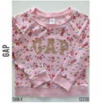 Blusa em  moletom  GAP - 4 anos - GAP e Gap Kids
