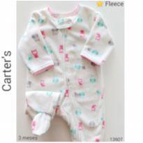 Macacão em fleece Carter`s - 0 a 3 meses - Carter`s e carter`s, baby gap, zara