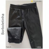 Calça em couro eco Borboletinha - 4 anos - Borboletinha Kids