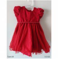 Vestido de festa vermelho - 3 a 6 meses - nelu e Nelu - BR