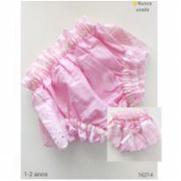 Calcinha tapa fraldas rosa - 1 ano - Sem marca