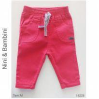 Calça jeans Nini & Bambini - 6 a 9 meses - Nini e Bambini