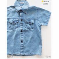 Camisa jeans , NOVA - 2 anos - Maximus Baby