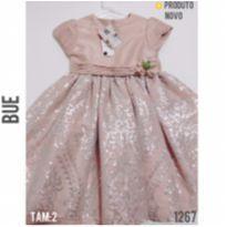 Vestido de festa luxo, NOVO - 2 anos - Bue