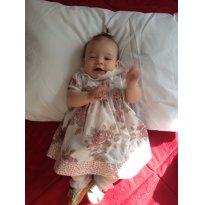 Vestido floral chique - 3 a 6 meses - Não informada