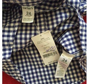 Camisa xadrez azul carters 24m - 18 meses - Carter`s