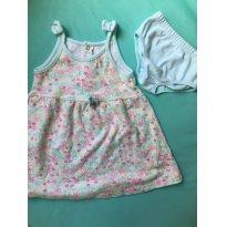 Vestido floral Bibe 6-9 meses - 6 a 9 meses - BIBE