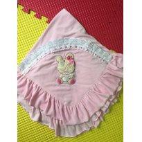 Mantinha quentinha bebe rosa - Sem faixa etaria - Não informada