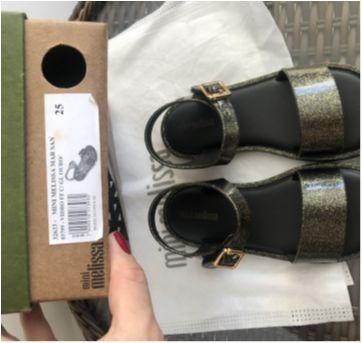 Sandália mini melissa mar sandal 25 - 25 - Mini Melissa original