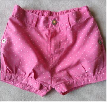 shortinho poá rosa - 24 a 36 meses - Poim