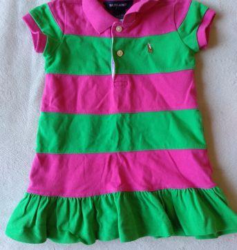 vestido verde rosa Rauph Lauren - 18 meses - Ralph Lauren