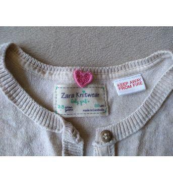casaquinho Zara - 24 a 36 meses - Zara Baby