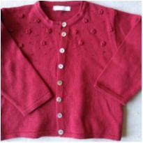 casaquinho vermelho malha - 24 a 36 meses - Três Marias