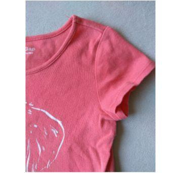 camiseta rosa au au - 2 anos - Baby Gap
