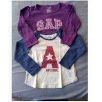 duas blusas manga longa lindas - 3 anos - Baby Gap