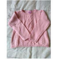 Blusão rosa de linha - 4 anos - Não informada