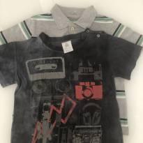 Kit com polo e camiseta descolados - 2 anos - Faded Glory (EUA) e Paola BimBi