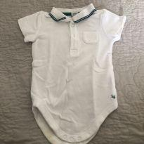 Body polo janie and jack 3 a 6 m - 3 a 6 meses - Janie and Jack