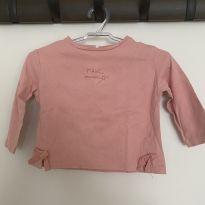Camiseta manga longa Zara - 6 a 9 meses - Zara