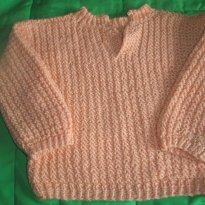 Blusa de inverno - 3 a 6 meses - Artesanal