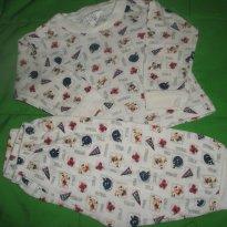 Conjunto pijama - 3 a 6 meses - Mafessoni